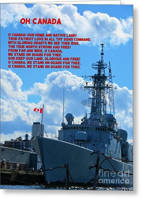 Halifax Photographs Greeting Cards - Halifax Naval Base Greeting Card by John Malone