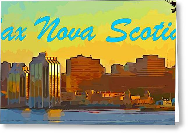 Boats In Harbor Greeting Cards - Halifax Nova Scotia Poster Greeting Card by John Malone
