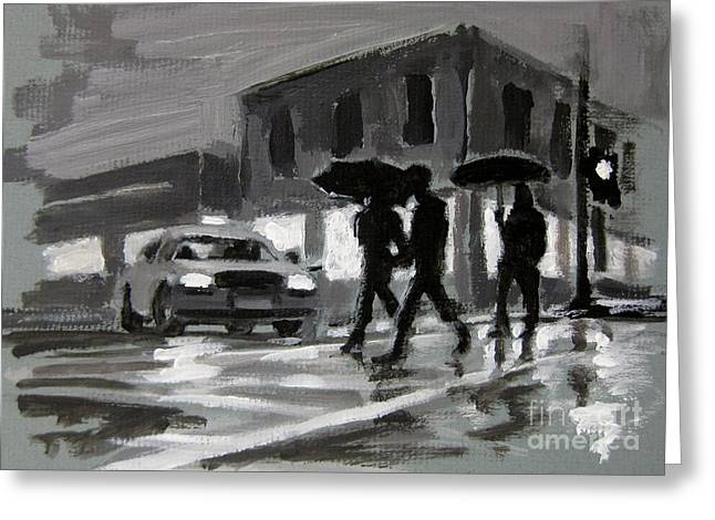 Night Scenes Greeting Cards - Halifax Untitled Number Five  Greeting Card by John Malone