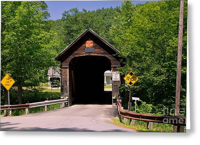 Grafton Vermont Greeting Cards - Hall Covered Bridge. Greeting Card by New England Photography