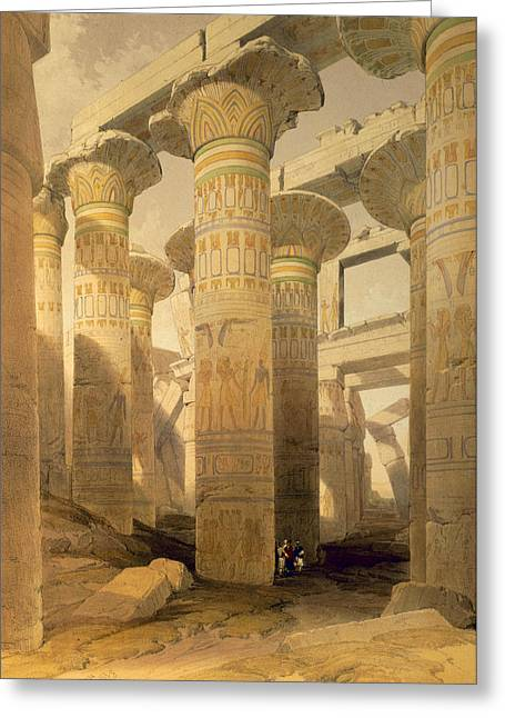 Ruin Greeting Cards - Hall Of Columns, Karnak, From Egypt Greeting Card by David Roberts