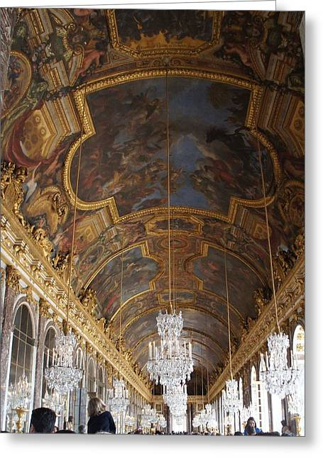 Hall Of Mirrorsversailles Greeting Card by Kristine Bogdanovich
