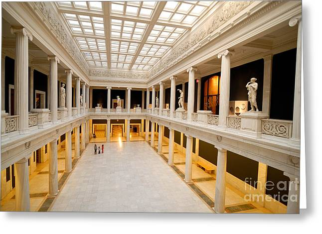 Carnegie Museum Of Art Greeting Cards - Hall of Sculpture Carnegie Museum Greeting Card by Amy Cicconi