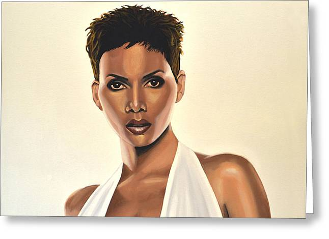 Marvel Comics Greeting Cards - Halle Berry Greeting Card by Paul Meijering