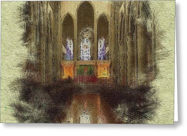 British Columbia Mixed Media Greeting Cards - Hallelujah Greeting Card by Maryann Burrows
