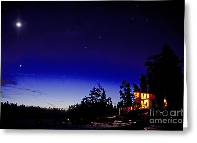 Halley Greeting Cards - Halley Camp, Sunset County, Ontario Greeting Card by Adam Sylvester