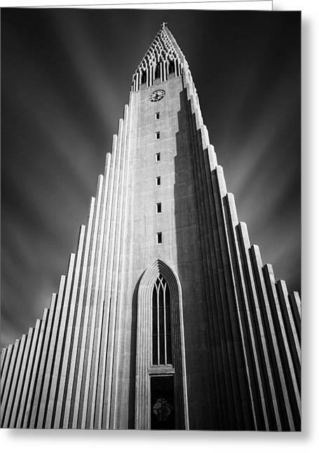 Lutheran Greeting Cards - Hallgrimskirkja 1 Greeting Card by Dave Bowman