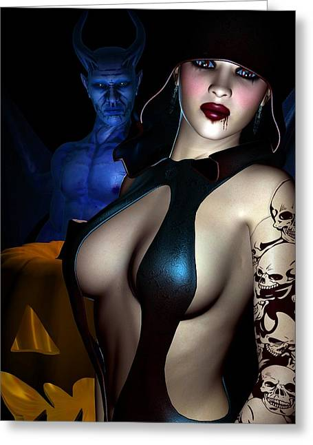 Female Body Greeting Cards - Halloween Greeting Card by Alexander Butler