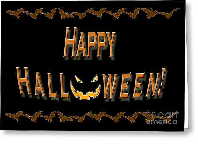 Halloween Bat Border Greeting Card by Melissa A Benson