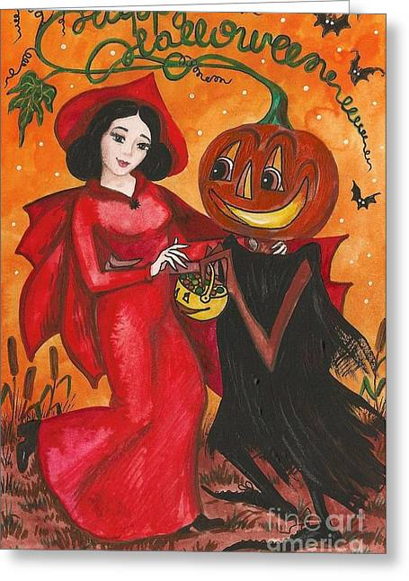 Good Witch Greeting Cards - Halloween Candy For You My Dear Greeting Card by Margaryta Yermolayeva