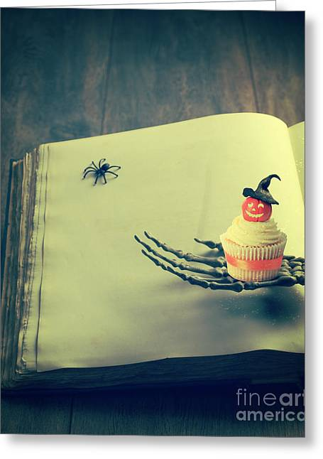 Trick-or-treat Greeting Cards - Halloween Cupcake Greeting Card by Amanda And Christopher Elwell