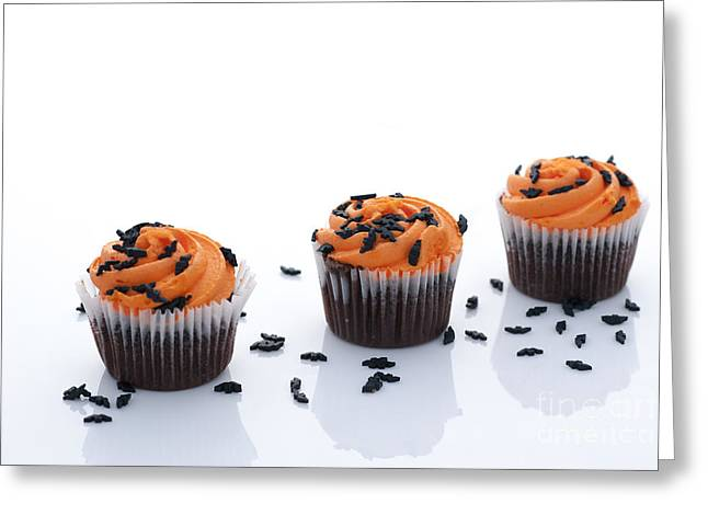 Cupcake Photography Greeting Cards - Halloween Cupcakes Greeting Card by Juli Scalzi