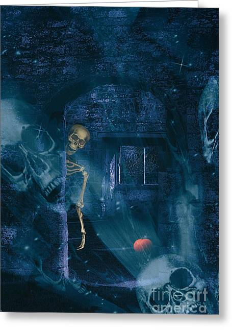 Double Greeting Cards - Halloween Double Exposure Greeting Card by Amanda And Christopher Elwell
