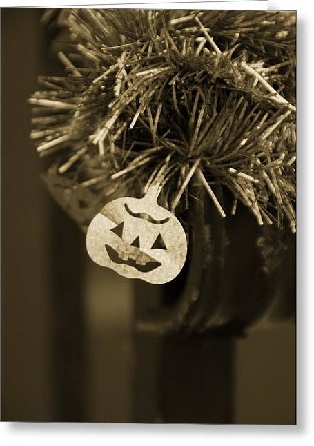 Tinsel Greeting Cards - Halloween Greetings Greeting Card by Marianna Mills