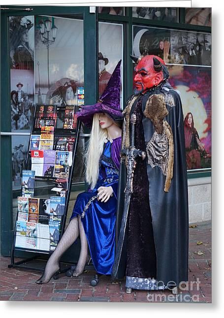 Featured Art Greeting Cards - Halloween in Salem Greeting Card by Zori Minkova
