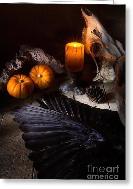 Hallows Eve Greeting Cards - Halloween is Coming Greeting Card by Ann Garrett