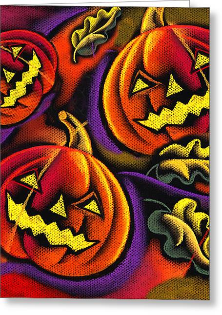 Colors Of Autumn Greeting Cards - Halloween Greeting Card by Leon Zernitsky