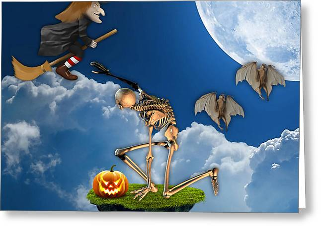 Spooky Greeting Cards - Halloween Greeting Card by Marvin Blaine