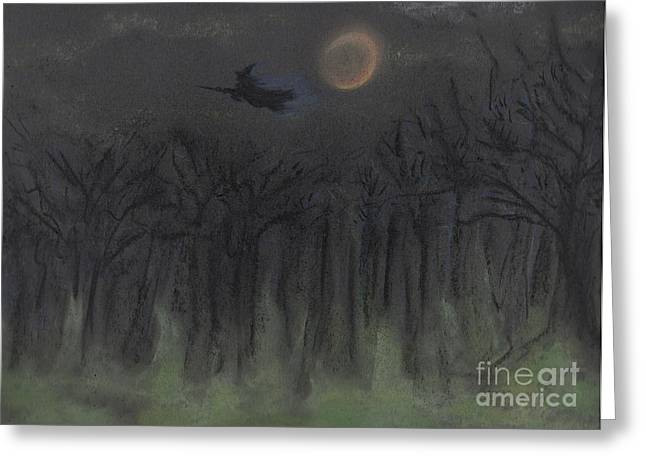 Imagination Pastels Greeting Cards - Halloween Night by jrr Greeting Card by First Star Art