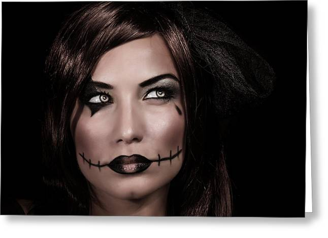 Expresion Greeting Cards - Halloween party Greeting Card by Anna Omelchenko