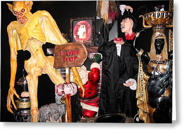 Evil Place Greeting Cards - Halloween party Greeting Card by Zina Stromberg