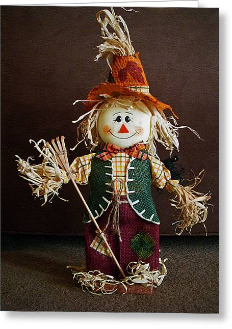 Halloween Scarecrow Greeting Card by Aimee L Maher Photography and Art Visit ALMGallerydotcom