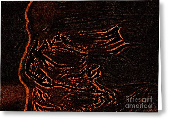 Samhaim Greeting Cards - Halloween Specter black by jrr Greeting Card by First Star Art