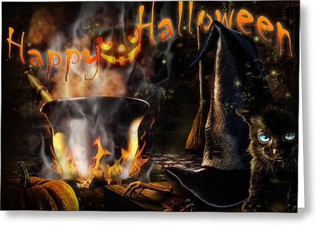 Tricks Greeting Cards - Halloween spirit Greeting card Greeting Card by Alessandro Della Pietra