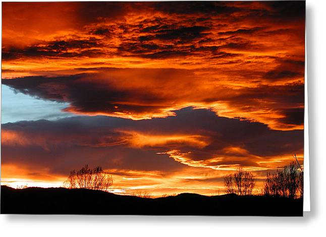 Fort Collins Greeting Cards - Halloween Sunset Greeting Card by Tim Nielsen