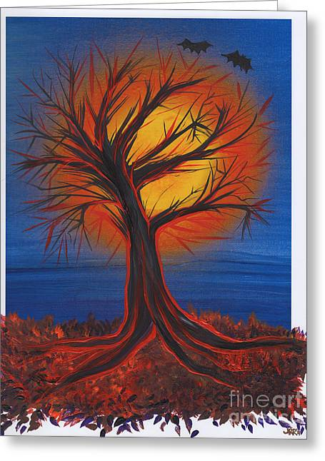 Samhaim Greeting Cards - Halloween Tree by jrr Greeting Card by First Star Art