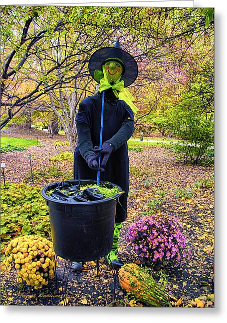Halloween Witch Greeting Card by Thomas Woolworth