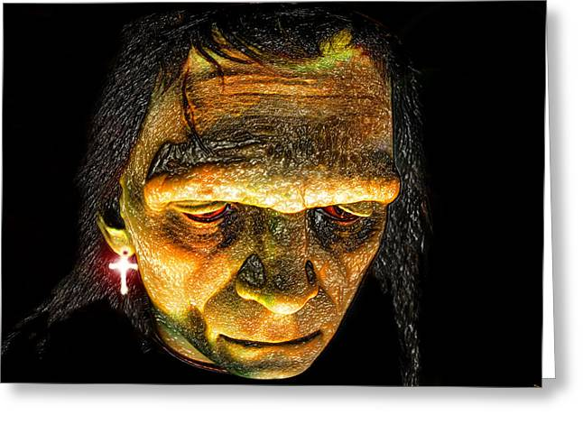 Ear Rings Greeting Cards - Halloweens Rockstar Greeting Card by David Lee Thompson