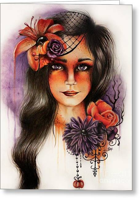 Hallows Eve Greeting Cards - Hallows Eva Greeting Card by Sheena Pike
