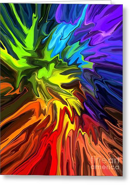 Hallucination Digital Art Greeting Cards - Hallucination Greeting Card by Chris Butler