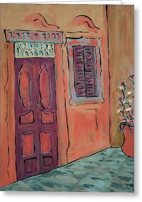 Prague Paintings Greeting Cards - Hallway Greeting Card by Oscar Penalber