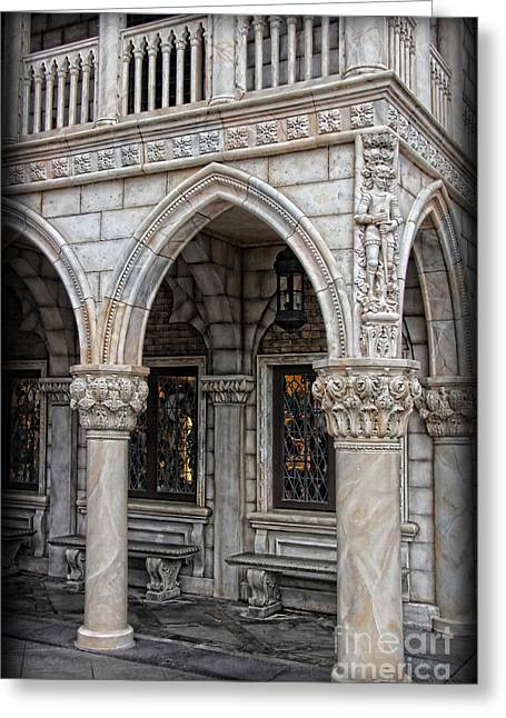 Byzantine Greeting Cards - Hallways of St. Marks Greeting Card by Lee Dos Santos