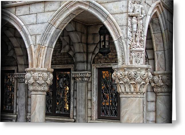 Hallways of St. Mark's Greeting Card by Lee Dos Santos
