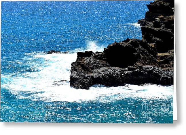 Halona Greeting Cards - Halona Shoreline Greeting Card by Joseph Cross