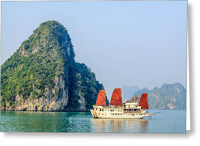 Recently Sold -  - Ocean Vista Greeting Cards - Halong bay Greeting Card by Aoshi Vn
