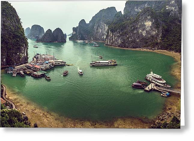 China Beach Greeting Cards - Halong Bay Vietnam Greeting Card by Craig Bennett
