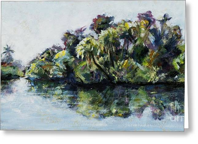 St. Lucie River Greeting Cards - Halpatiokee Park FL Greeting Card by Denise Justice