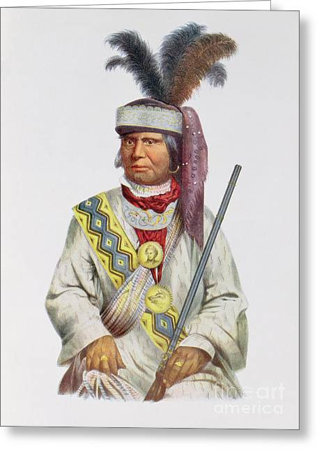 Tribe Greeting Cards - Halpatter-micco Or Billy Bowlegs, A Seminole Chief, C.1825, Illustration From The Indian Tribes Greeting Card by Charles Bird King