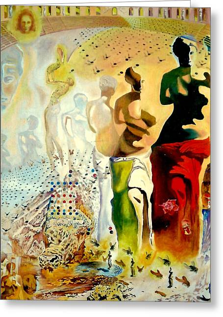 Nike Greeting Cards - Halucinogenic Toreador by Salvador Dali Greeting Card by Henryk Gorecki