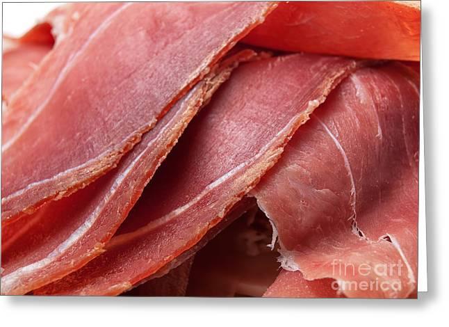 Delicatessen Meat Greeting Cards - Ham Greeting Card by Sinisa Botas
