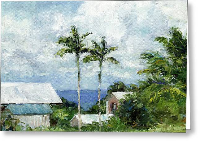 Stacy Vosberg Greeting Cards - Hamakua Coast View Greeting Card by Stacy Vosberg