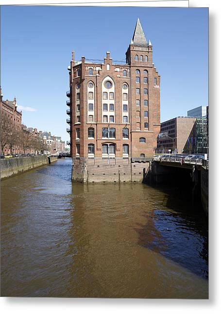 Deutschland Greeting Cards - Hamburg - Little Castle at the canal Greeting Card by Olaf Schulz