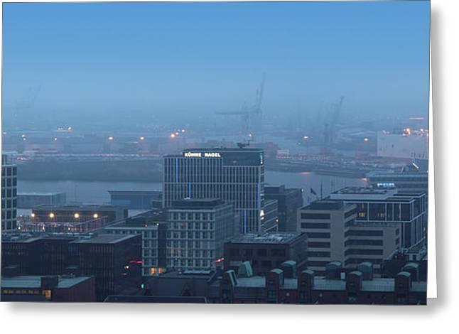 Hamburg Hafencity Panorama Greeting Card by Marc Huebner
