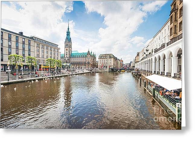 Altstadt Greeting Cards - Hamburg Greeting Card by JR Photography