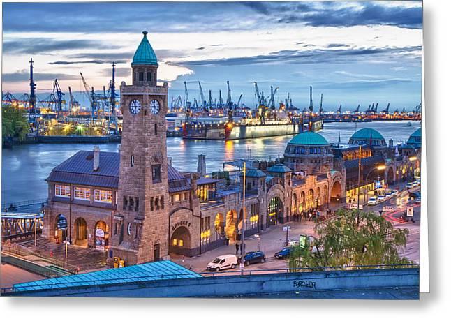 Market St Bridge Greeting Cards - Hamburg  Greeting Card by Jan Schuler