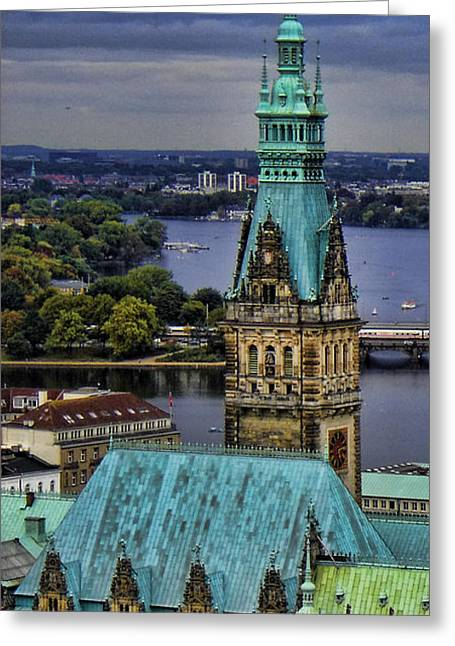 Twentieth Century Greeting Cards - Hamburg - The Gargoyles View Greeting Card by Lee Dos Santos